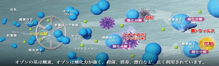 オゾンの消臭、除菌試験結果データ